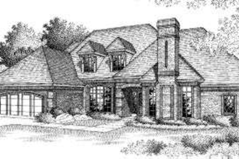 Traditional Style House Plan - 4 Beds 2.5 Baths 2889 Sq/Ft Plan #310-149 Exterior - Front Elevation