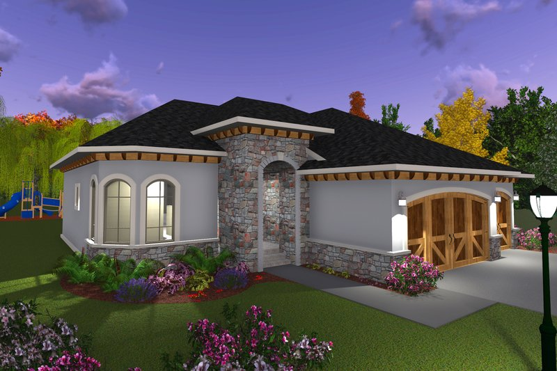 Ranch Exterior - Front Elevation Plan #70-1240