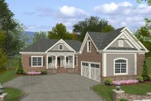 Home Plan - Southern Exterior - Front Elevation Plan #56-555