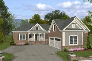 Dream House Plan - Southern Exterior - Front Elevation Plan #56-555