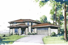 Contemporary Exterior - Front Elevation Plan #509-84