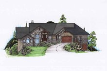 Craftsman Exterior - Front Elevation Plan #945-122