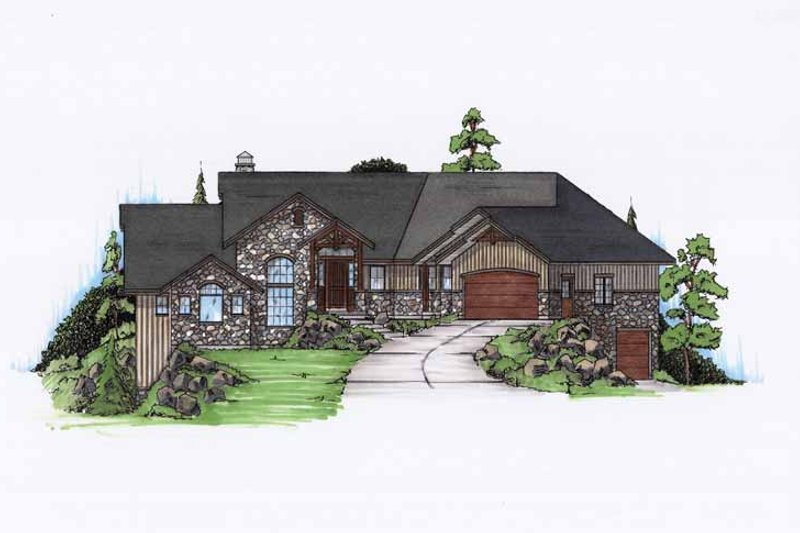Architectural House Design - Craftsman Exterior - Front Elevation Plan #945-122