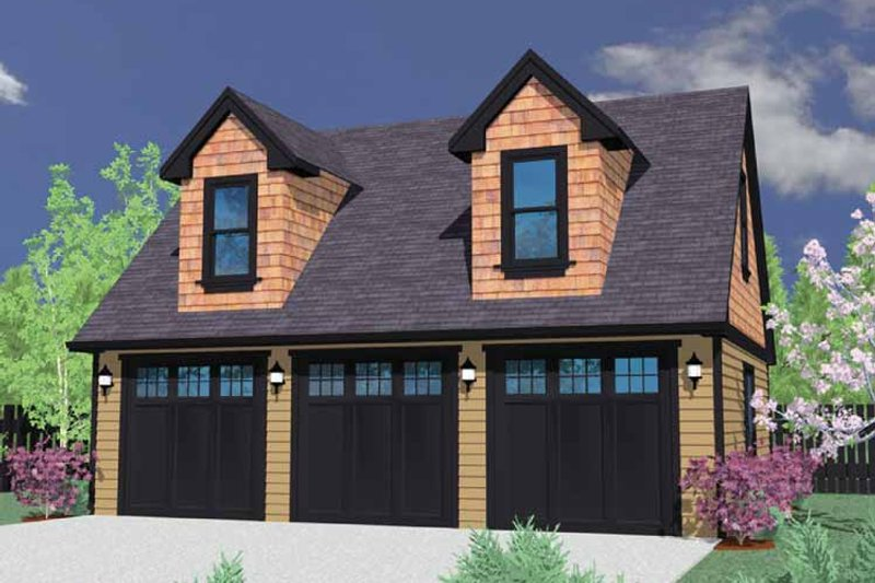 Traditional Exterior - Front Elevation Plan #509-400 - Houseplans.com
