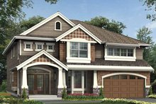 Craftsman Exterior - Front Elevation Plan #132-396