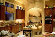 Mediterranean Style House Plan - 3 Beds 4.5 Baths 4534 Sq/Ft Plan #930-104 Interior - Kitchen