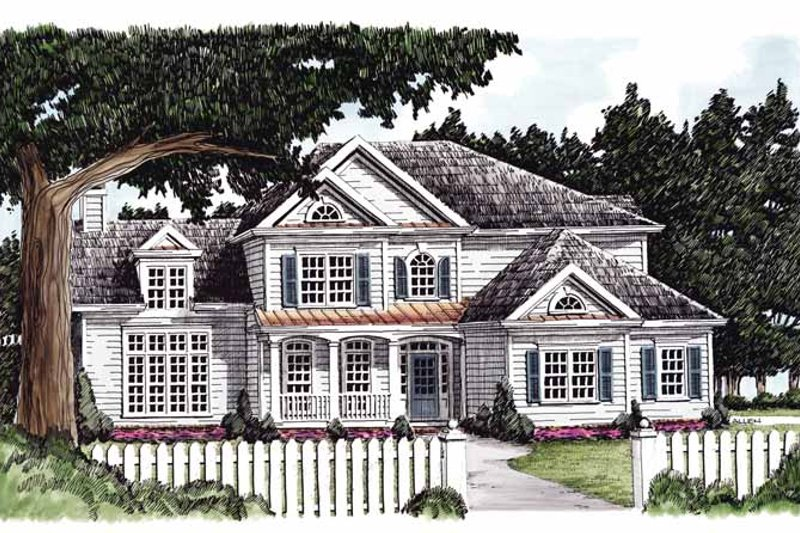 Country Exterior - Front Elevation Plan #927-690