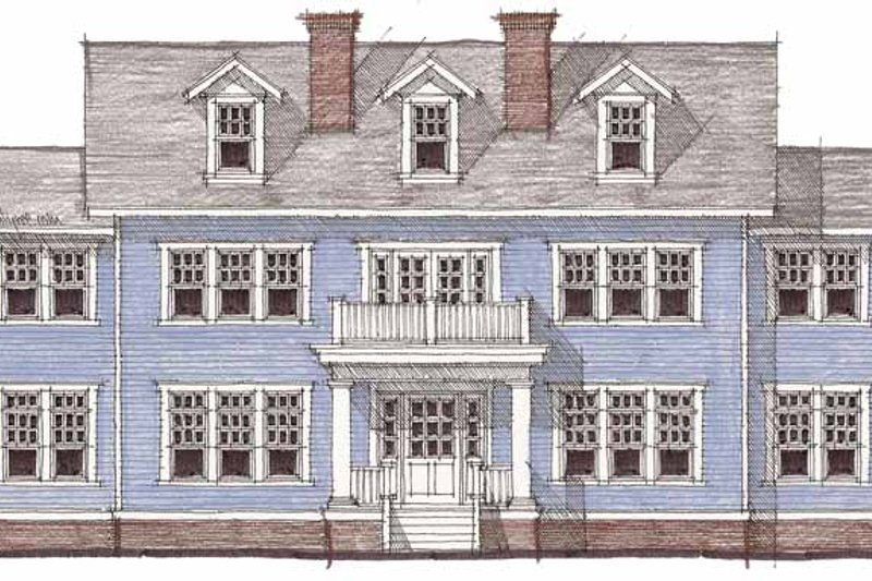 Colonial Exterior - Front Elevation Plan #64-287 - Houseplans.com
