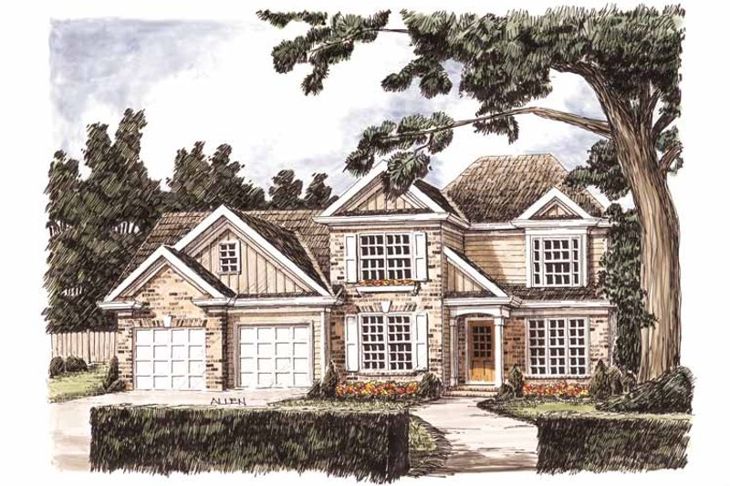 Architectural House Design - Traditional Exterior - Front Elevation Plan #927-717