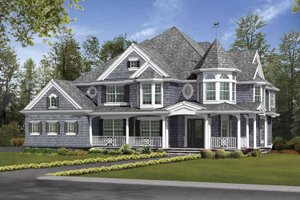 Dream House Plan - Victorian Exterior - Front Elevation Plan #132-493