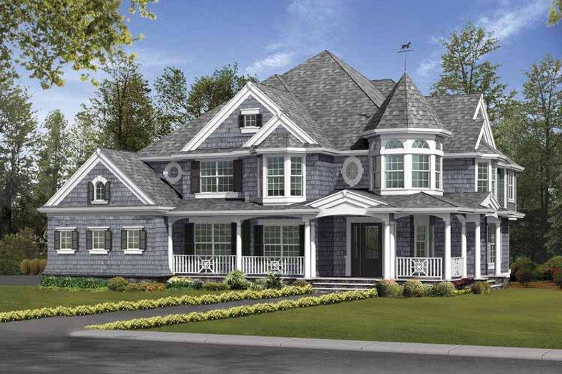 Victorian Exterior - Front Elevation Plan #132-493 - Houseplans.com