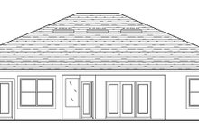 Adobe / Southwestern Exterior - Rear Elevation Plan #1058-134