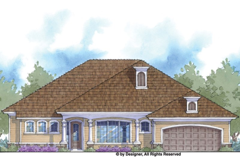 Architectural House Design - Country Exterior - Front Elevation Plan #938-69
