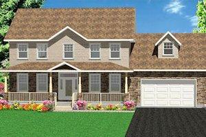 Farmhouse Exterior - Front Elevation Plan #414-130
