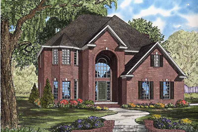 Architectural House Design - Traditional Exterior - Front Elevation Plan #17-3241