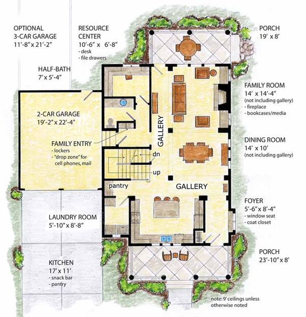 Country Floor Plan - Main Floor Plan Plan #410-3564