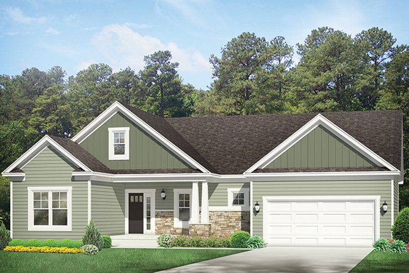 Ranch Exterior - Front Elevation Plan #1010-137