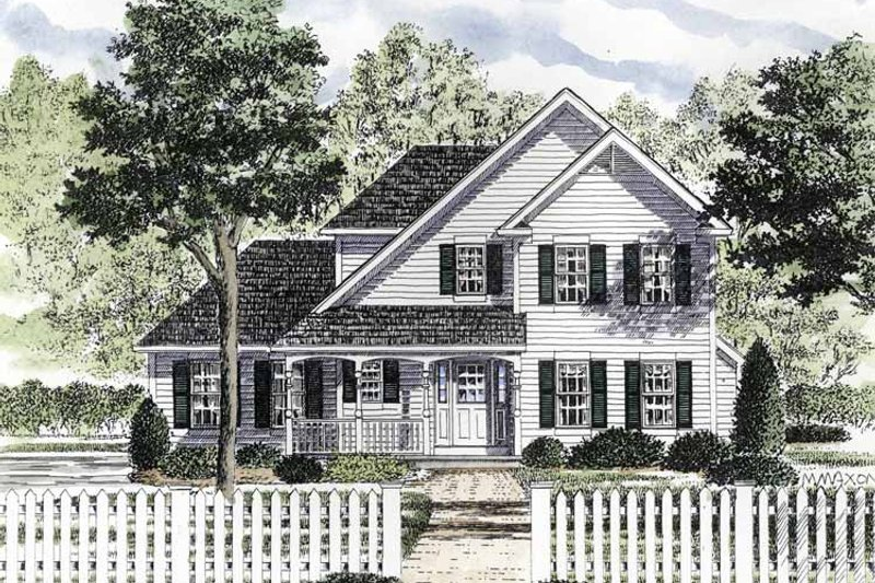 Country Exterior - Front Elevation Plan #316-182