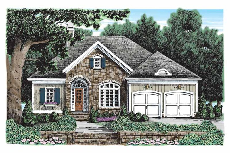 Country Exterior - Front Elevation Plan #927-904