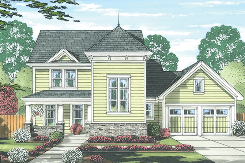 Traditional Exterior - Front Elevation Plan #46-846 - Houseplans.com