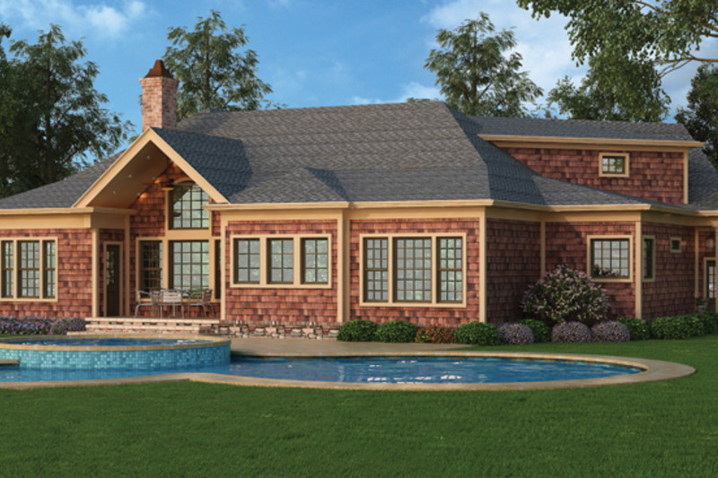 Craftsman Exterior - Rear Elevation Plan #119-416 - Houseplans.com