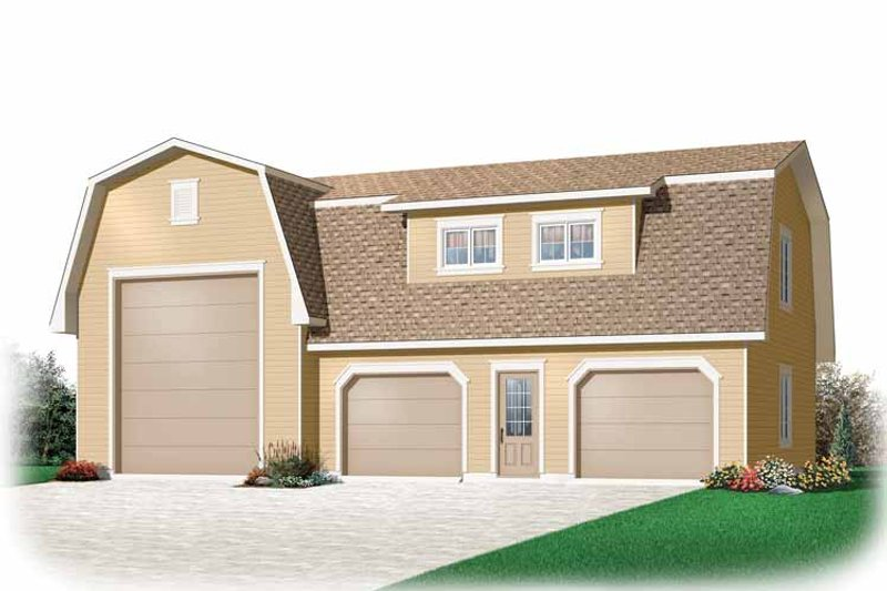 Country Exterior - Front Elevation Plan #23-2426