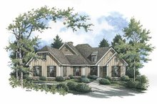 Dream House Plan - Country Exterior - Front Elevation Plan #45-422