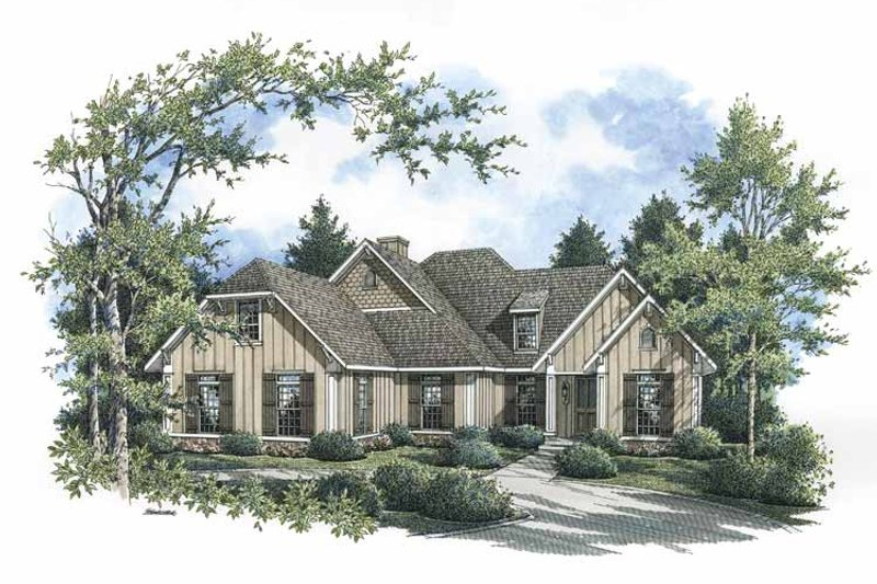 Country Exterior - Front Elevation Plan #45-422 - Houseplans.com