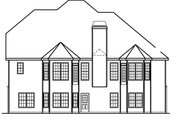 Country Style House Plan - 4 Beds 3.5 Baths 2730 Sq/Ft Plan #927-472 Exterior - Rear Elevation