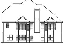 Home Plan - Country Exterior - Rear Elevation Plan #927-472