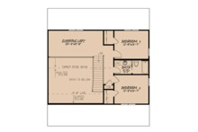 Country Floor Plan - Upper Floor Plan Plan #923-90
