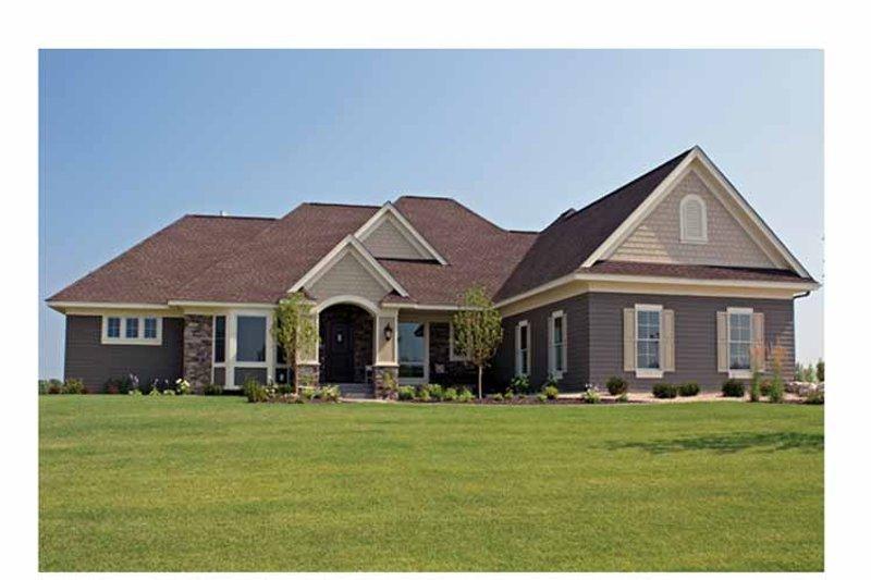 Architectural House Design - European Exterior - Front Elevation Plan #51-1072