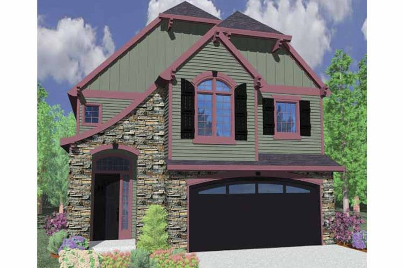 Country Exterior - Front Elevation Plan #509-325 - Houseplans.com