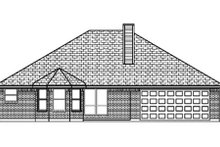Dream House Plan - Traditional Exterior - Rear Elevation Plan #84-348