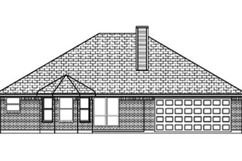 Traditional Exterior - Rear Elevation Plan #84-348 - Houseplans.com