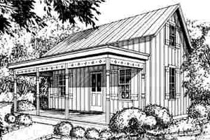 Cottage Exterior - Front Elevation Plan #40-184