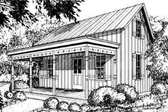 Cottage Exterior - Front Elevation Plan #40-184