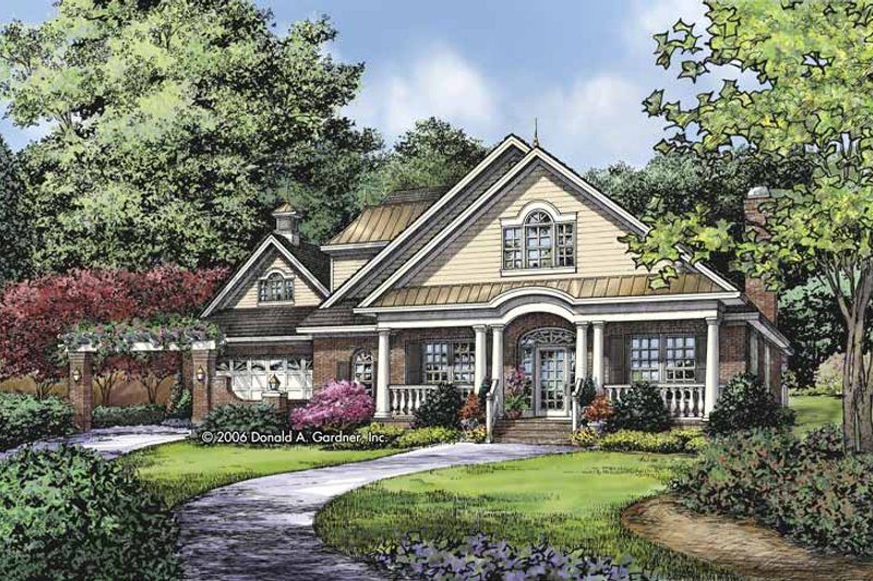 Architectural House Design - Country Exterior - Front Elevation Plan #929-809