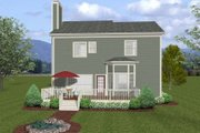 Craftsman Style House Plan - 3 Beds 2.5 Baths 2098 Sq/Ft Plan #56-554 Exterior - Rear Elevation