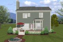 Dream House Plan - Craftsman Exterior - Rear Elevation Plan #56-554