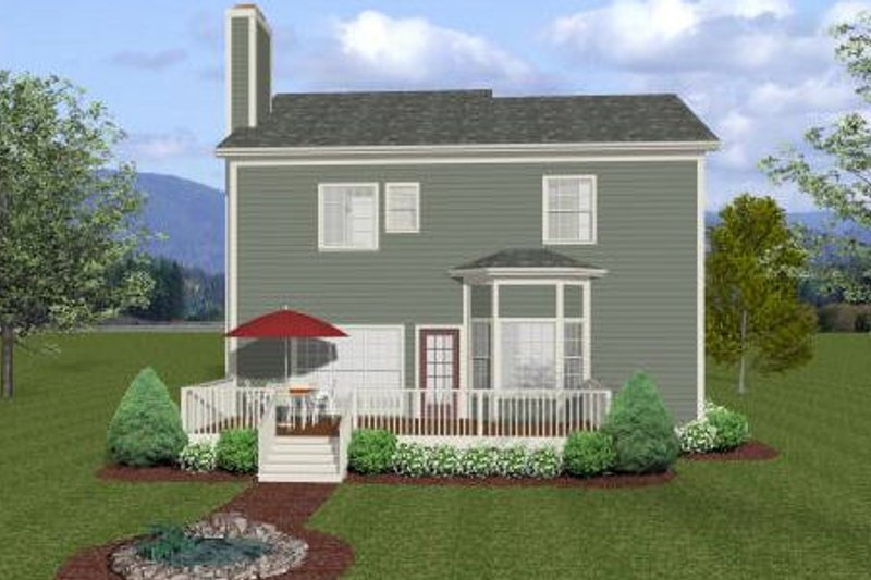 Craftsman Exterior - Rear Elevation Plan #56-554 - Houseplans.com