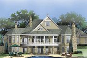 European Style House Plan - 4 Beds 4.5 Baths 4939 Sq/Ft Plan #929-864 Exterior - Rear Elevation