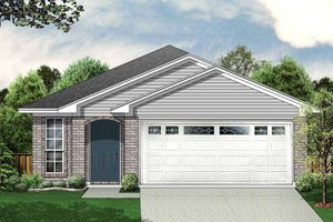 House Design - Ranch Exterior - Front Elevation Plan #84-659