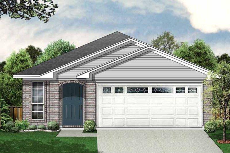 House Plan Design - Ranch Exterior - Front Elevation Plan #84-659