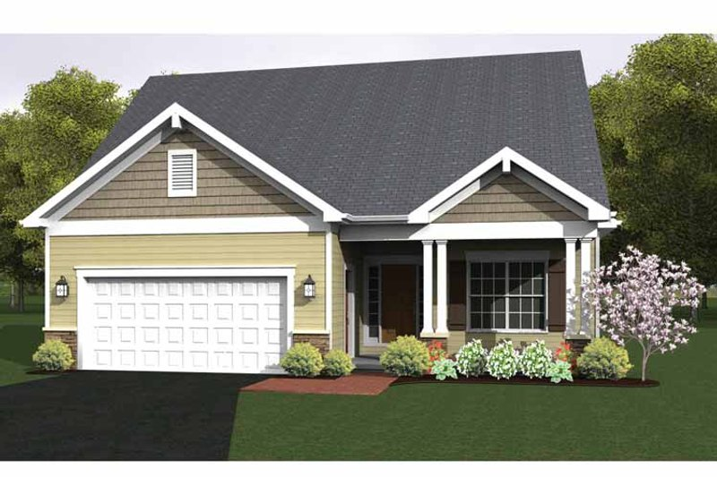 Ranch Exterior - Front Elevation Plan #1010-22 - Houseplans.com