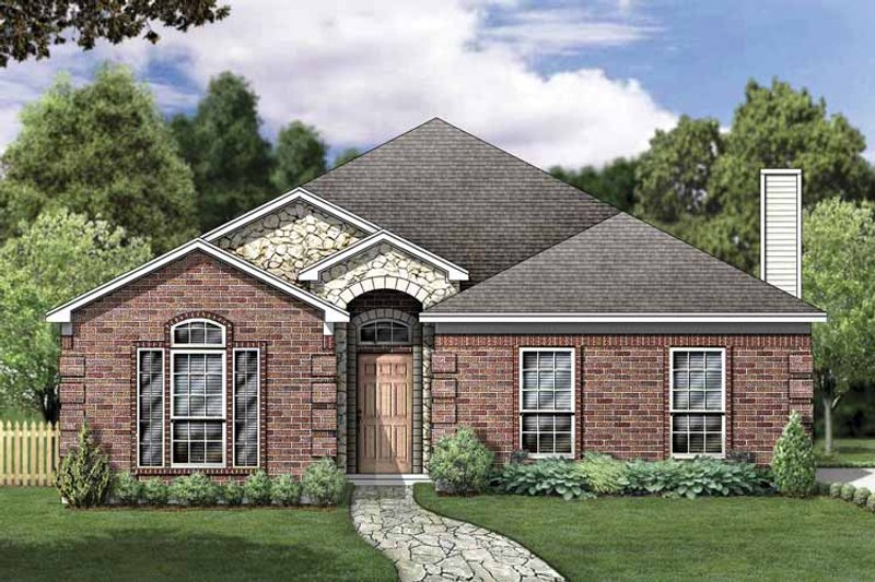 House Plan Design - Traditional Exterior - Front Elevation Plan #84-763