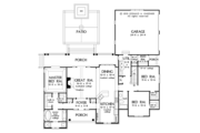 Ranch Style House Plan - 3 Beds 2 Baths 1914 Sq/Ft Plan #929-1011 Floor Plan - Main Floor