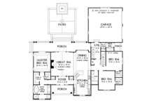 Ranch Floor Plan - Main Floor Plan Plan #929-1011