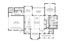 Traditional Floor Plan - Main Floor Plan Plan #927-957