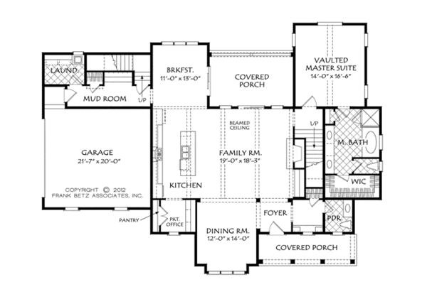 Architectural House Design - Traditional Floor Plan - Main Floor Plan #927-957